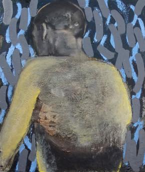 Vincent'sDream, 2018, Oil, silicone on canvas, 54 x 65 cm.