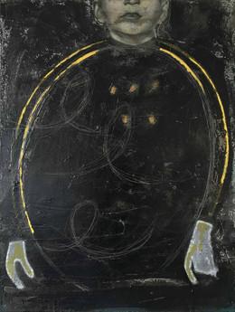 Finger Writing, 2016, Oil on Canvas, 68 x 89 cm.