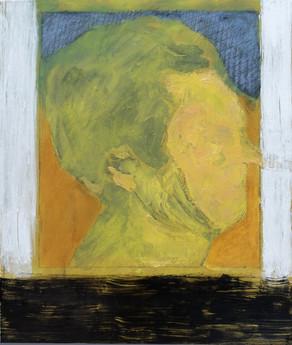 Dessin No.3, 2018, Pastel, glue, pigments et silicone on canvas, 54 x 65cm.