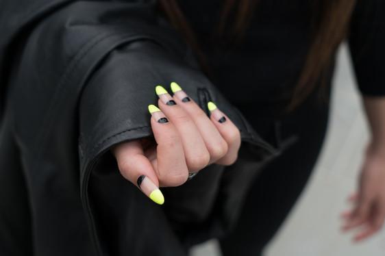 long, natural nails