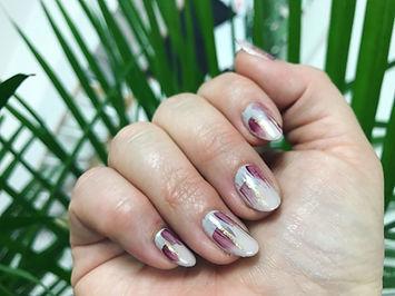 non toxic nail art; gel nails; brush stroke nail art