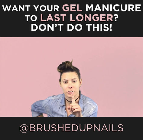 tips for your gel manicure to last