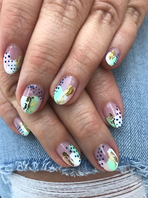 non toxic nail art; abstract art; gel nails