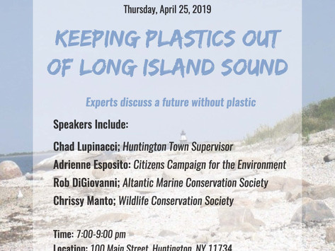 Free Forum on Keeping Plastic Out of Long Island Sound