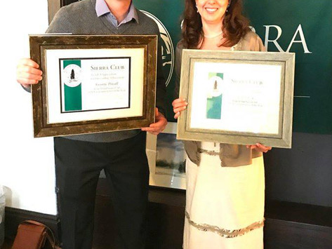 Beth Fiteni and George Povall honored at Environmentalist of the Year luncheon