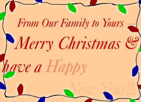Christmas Wishes animated card