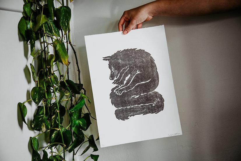 Fox Lithography Print