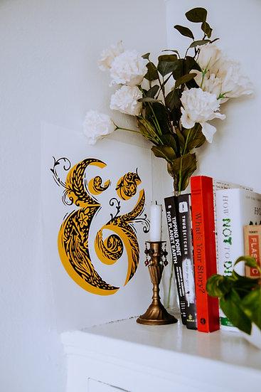 Floral Ampersand Screenprint