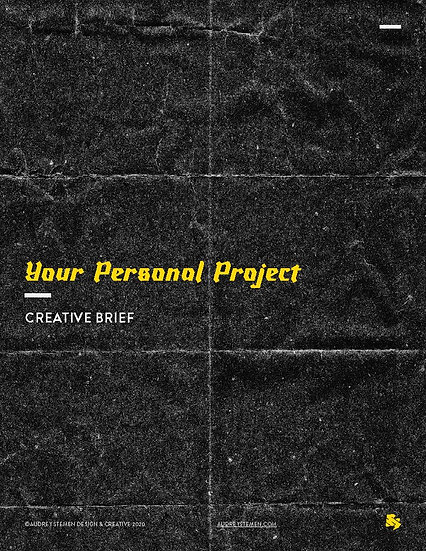 Free Creative Brief for Personal Projects