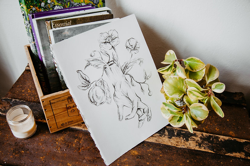 Fruitful Hand Lithography Print