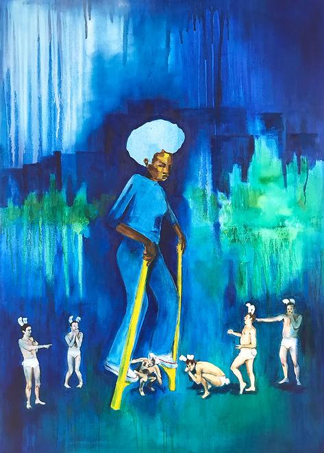 Annis Harrison,Duppy V,2021,oil on canvas,120 x85 cm .jpg