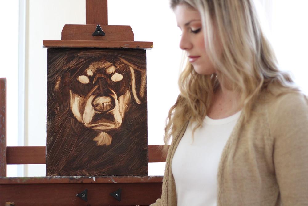 Britton Vaughn Pet Portrait in Progress