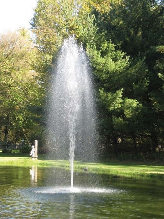 oase floating fountain head