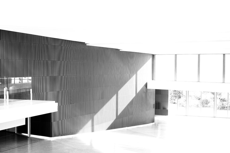 Archtectural interior seving as a background for the news abour Dawid Runtz