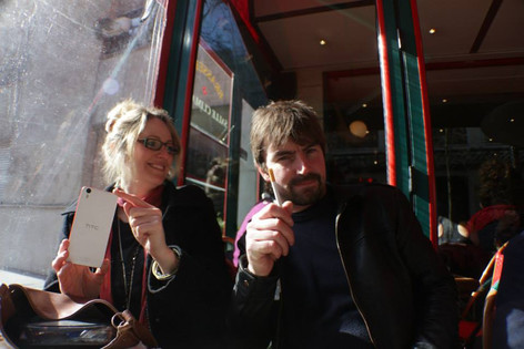 With Wendy Layland, Paris, 2015