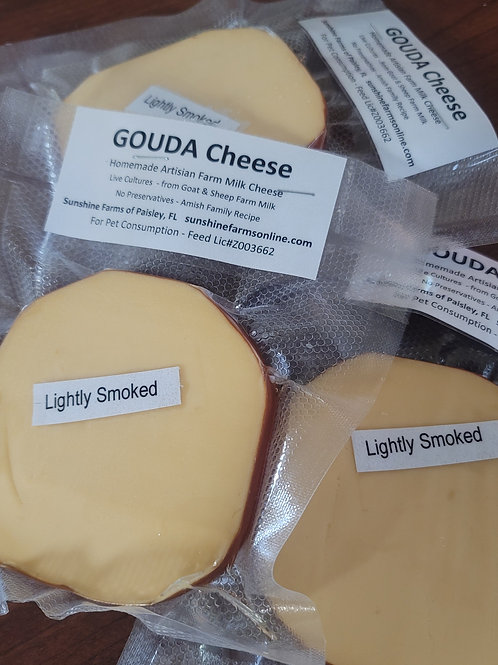 New !  🧀 GOUDA Lightly Smoked Goat / Sheep Cheese  4-6oz Slice