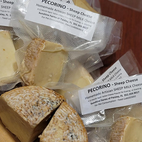 Italian PECORINO from SHEEP Cheese 4-6oz Block