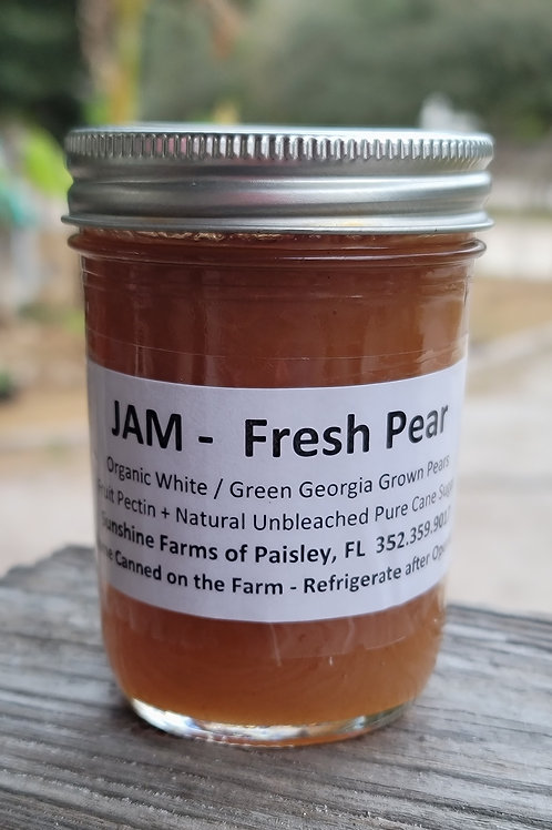 🍐 JAM Pear  -   8oz Jar Home Canned