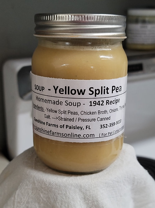 SOUP - Yellow Split Pea & Thyme -14oz Homecanned