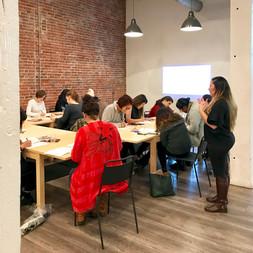 Workshop at Unique Space, LA