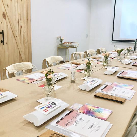 Workshop Set-up at M.Lovewell