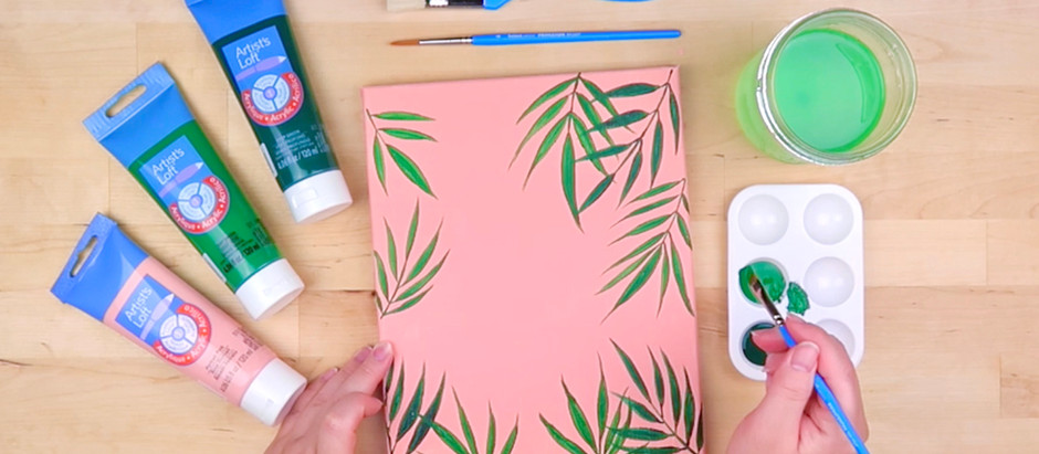 How to Paint an Acrylic Leaf Painting Tutorial