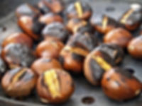 Chestnuts roasted in pan