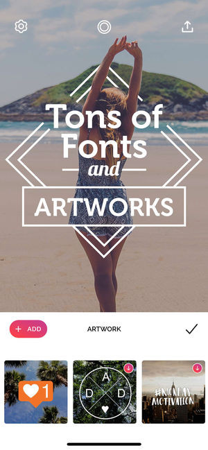 Font Candy photo editing Instagram story