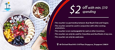 $2 off w min. $10 spend from Acai Beach