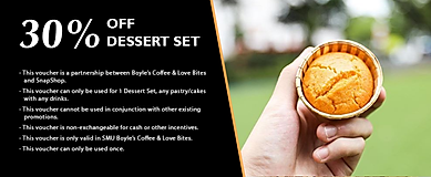 30% off Dessert Set from Boyle's Coffe L