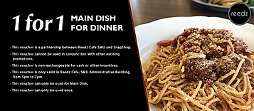 1 for 1 Main Dish For Dinner from SMU Re