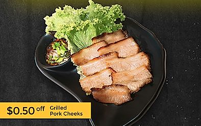 $0.50 off Grilled Pork Cheeks from Soi A