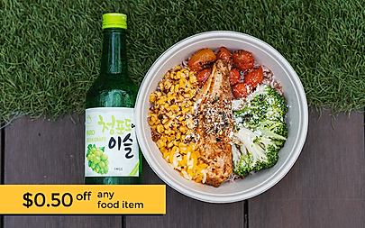 $0.50 off any food item from Bricklane.p