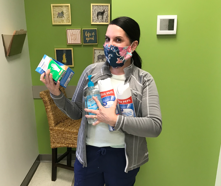 Sycamore High Teachers Donate Excess Sanitizing Products to Help Local Frontline Workers
