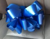 An example of the blue ribbons for Autism