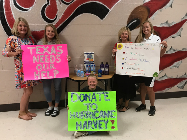 Local School Encourages Cheatham County to Help Hurricane Harvey Victims