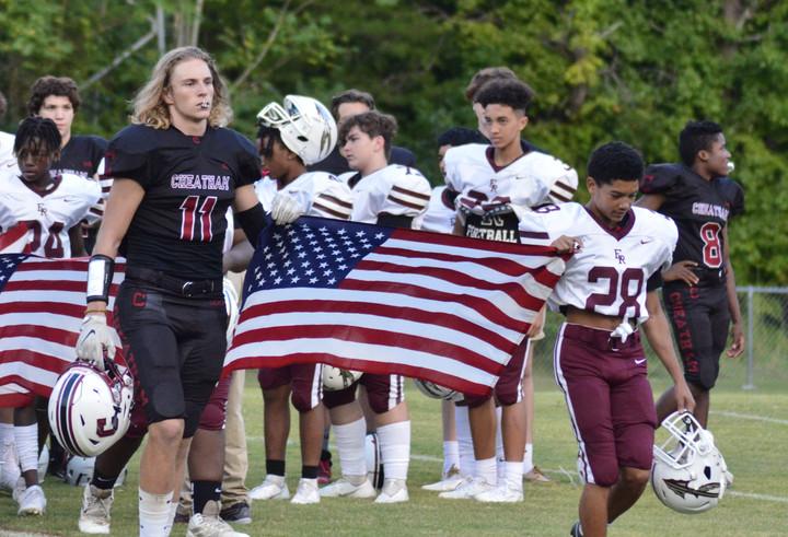 Local Football Teams Display Patriotism, Suffer Double Losses