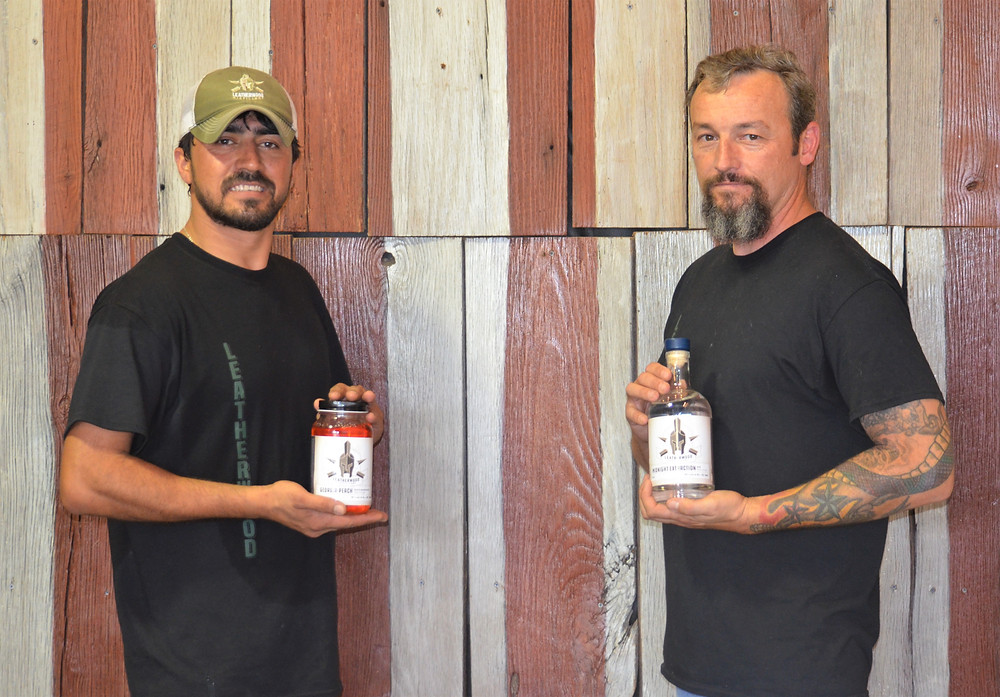 Leatherwood owner Andrew Lang (R) and his right-hand man, Masoud Razi