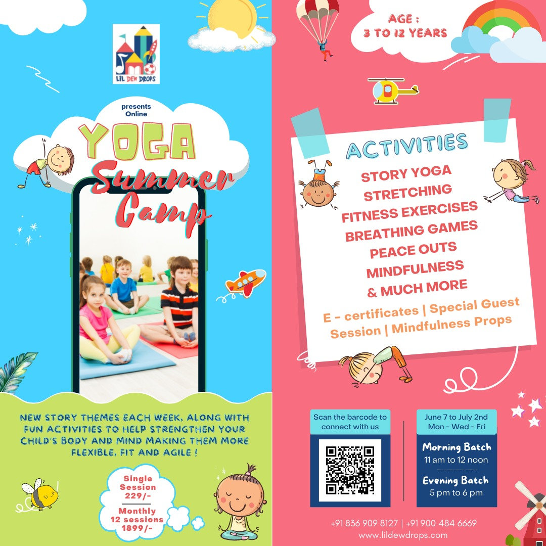 KIDS YOGA CAMP (MONTHLY| 2 WEEKS LEFT)
