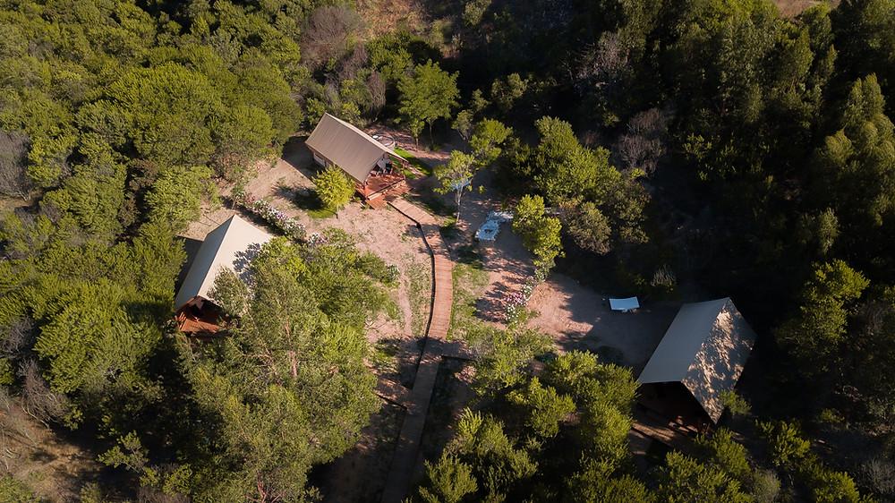 Vista aérea do ForestGlamp