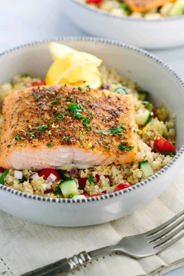 Spiced Salmon and Quinoa