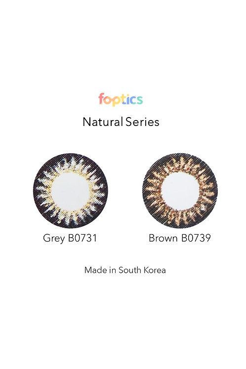 foptics Natural series coloured lifestyle contact lenses (Monthly)