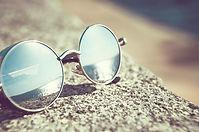Mirror coated round sunglasses