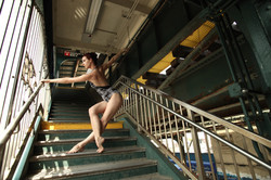 Dancing on the NYC subway