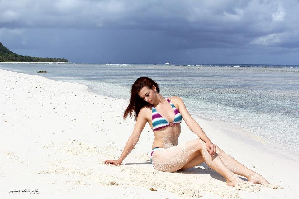 Shooting on the beach in Guam