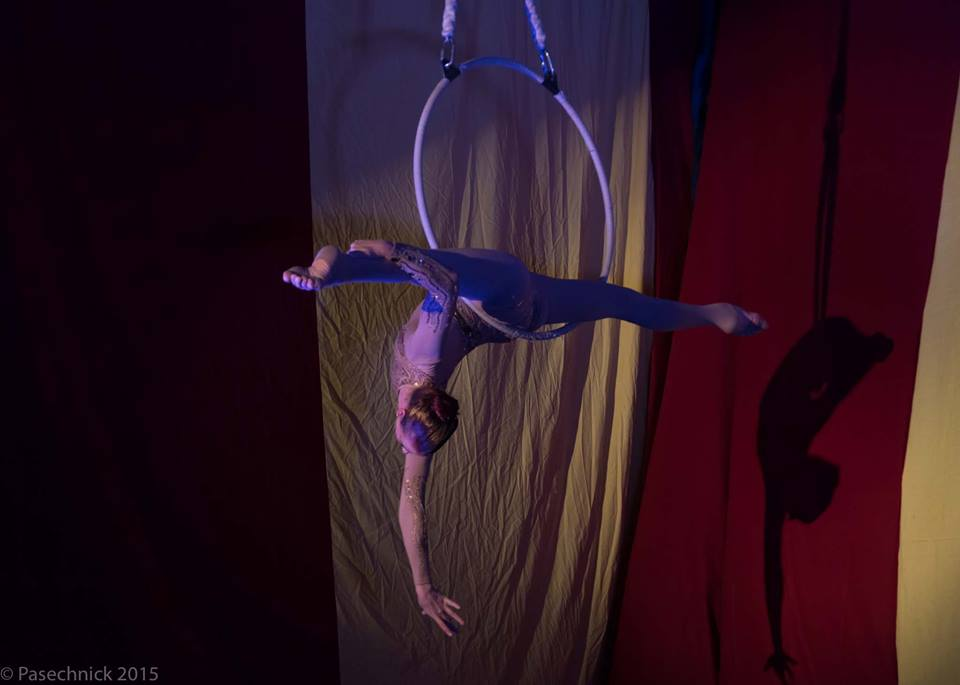 performing at Aerial Arts NYC