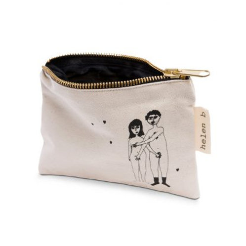 Naked Couple Zip Up Pouch