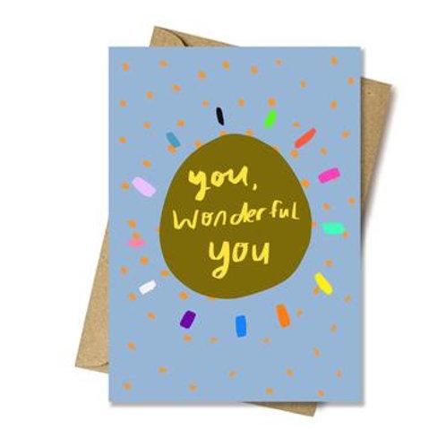 You, Wonderful You Card