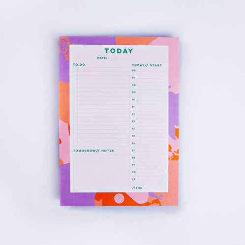 Palette Knife Daily Planner Pad