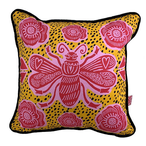 Bee Yellow Cushion
